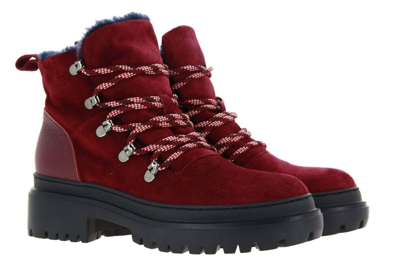 Pollini ankle boots lined CAMOSCIO BORGOGNA