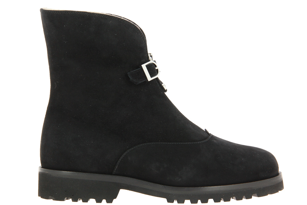 Unützer ankle boots lined CAMOSCIO NERO