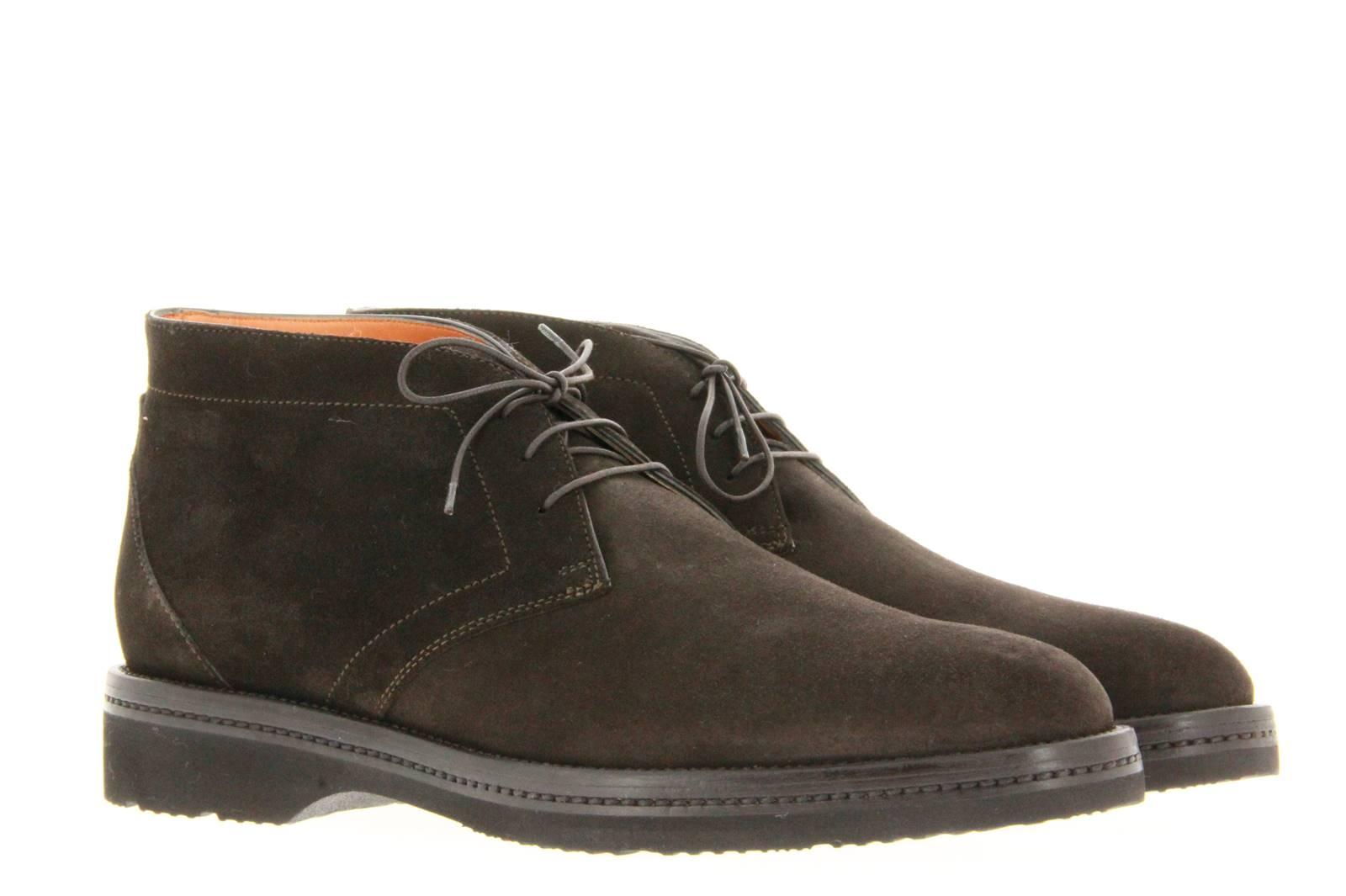 Santoni ankle boots VELOUR BROWN