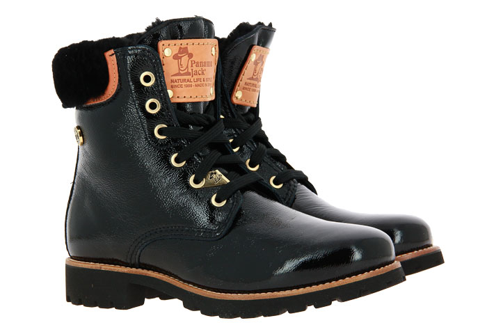 Panama Jack ankle boots lined PANAMA 03 IGLOO TRAVELLING CHAROL NEGRO