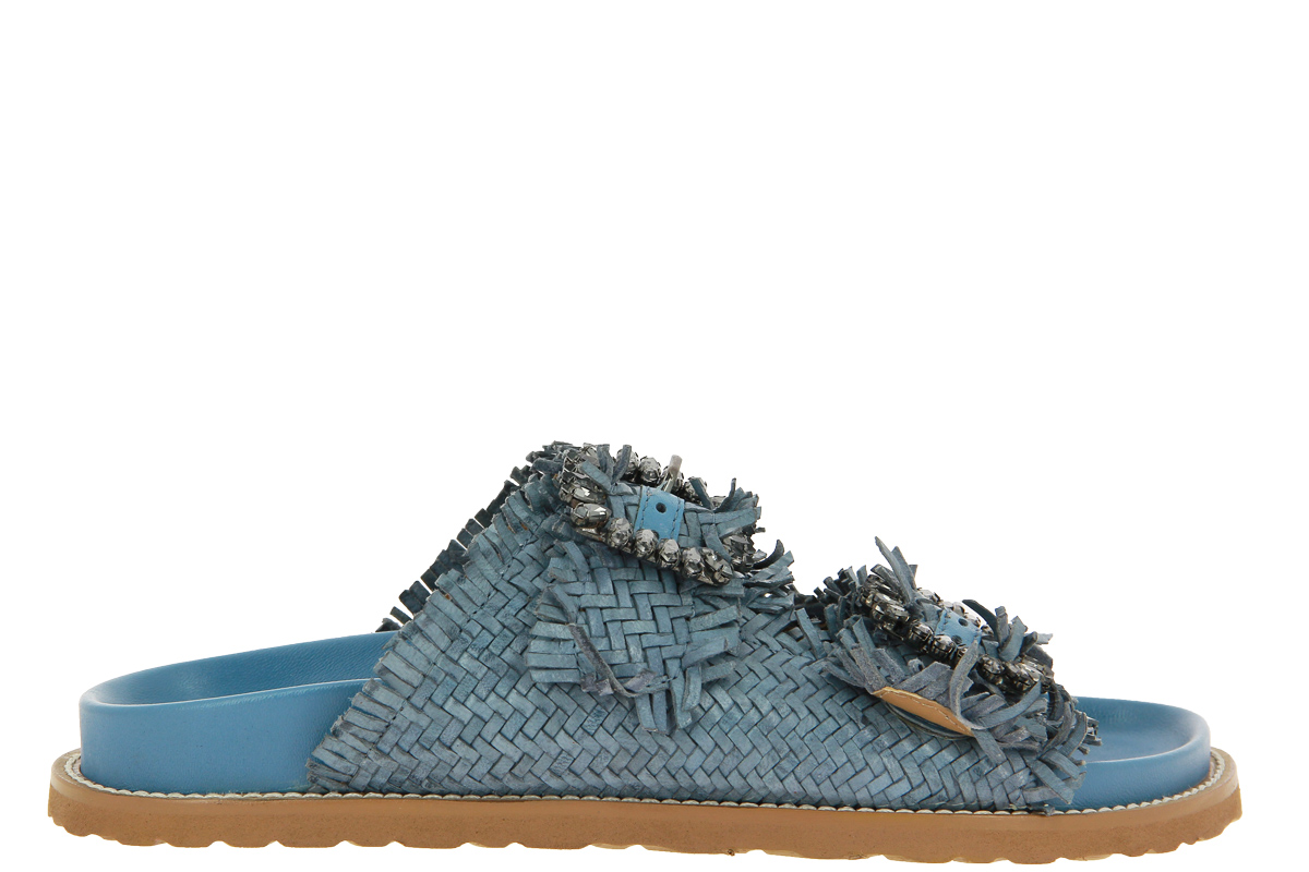 Coral Blue mules BLU