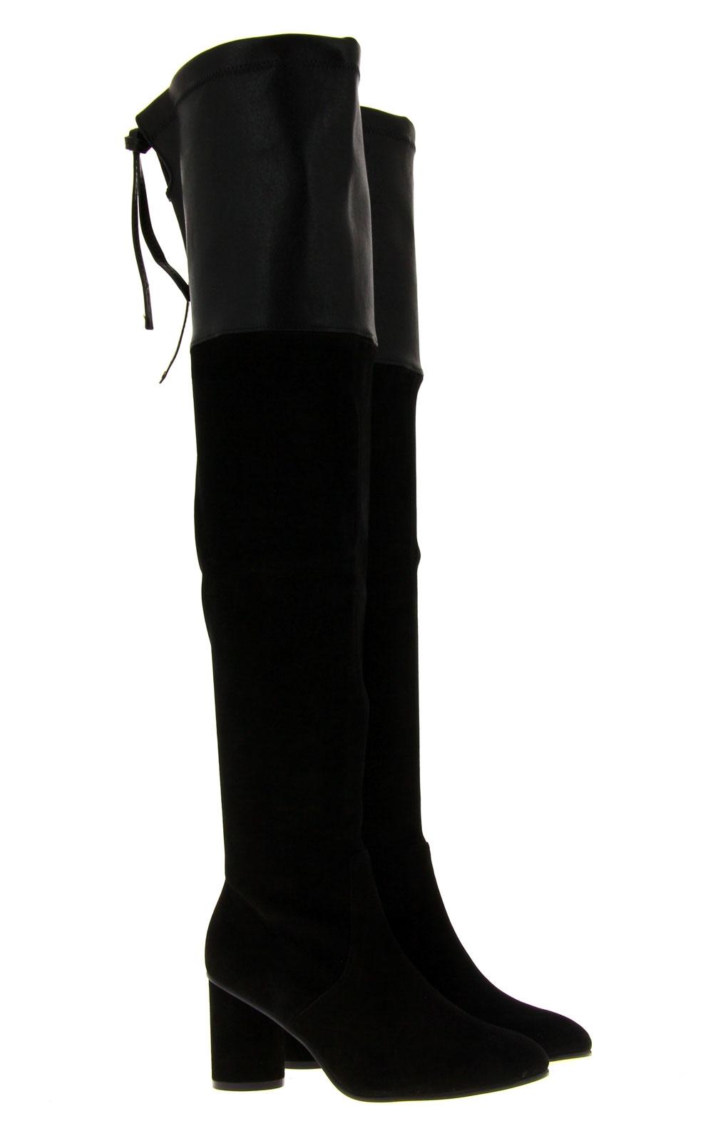 Stuart Weitzman overknee-boots HELENA BLACK FUSION SUEDE