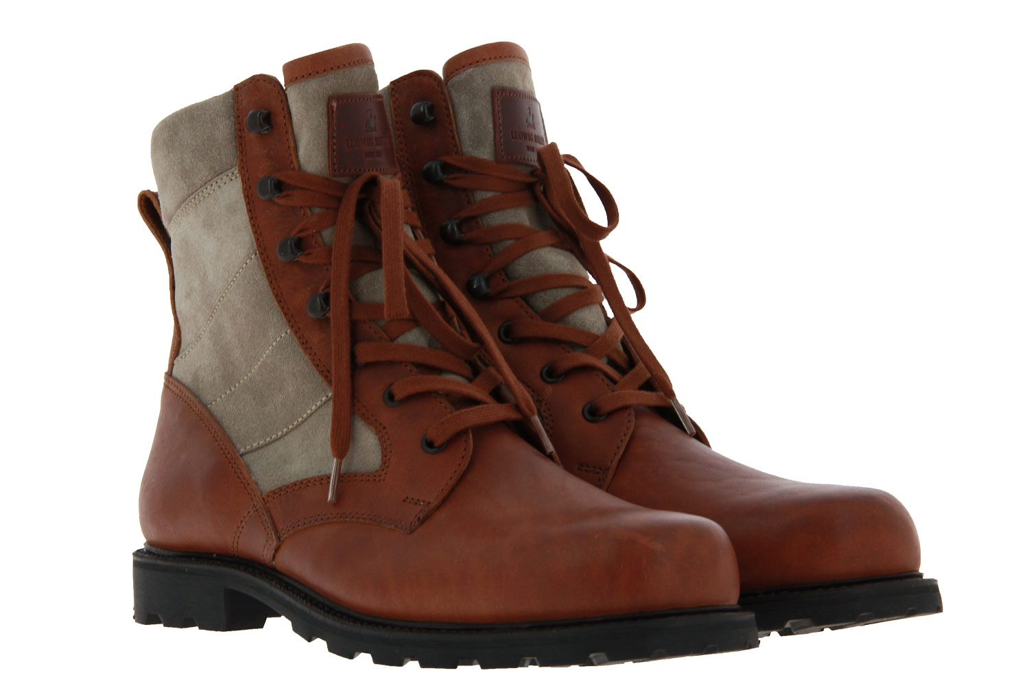 Ludwig Reiter ankle boots lined DESERT HORSEBACK MIDBROWN