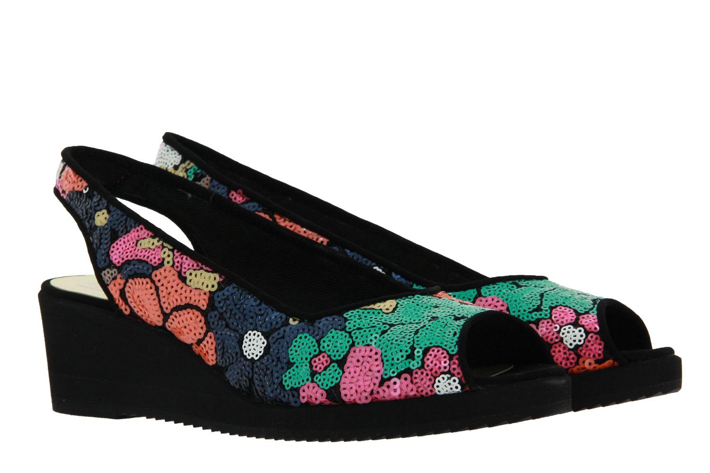 Azuree Cannes sandals CITA TISSU DIANA VELOURS NOIR