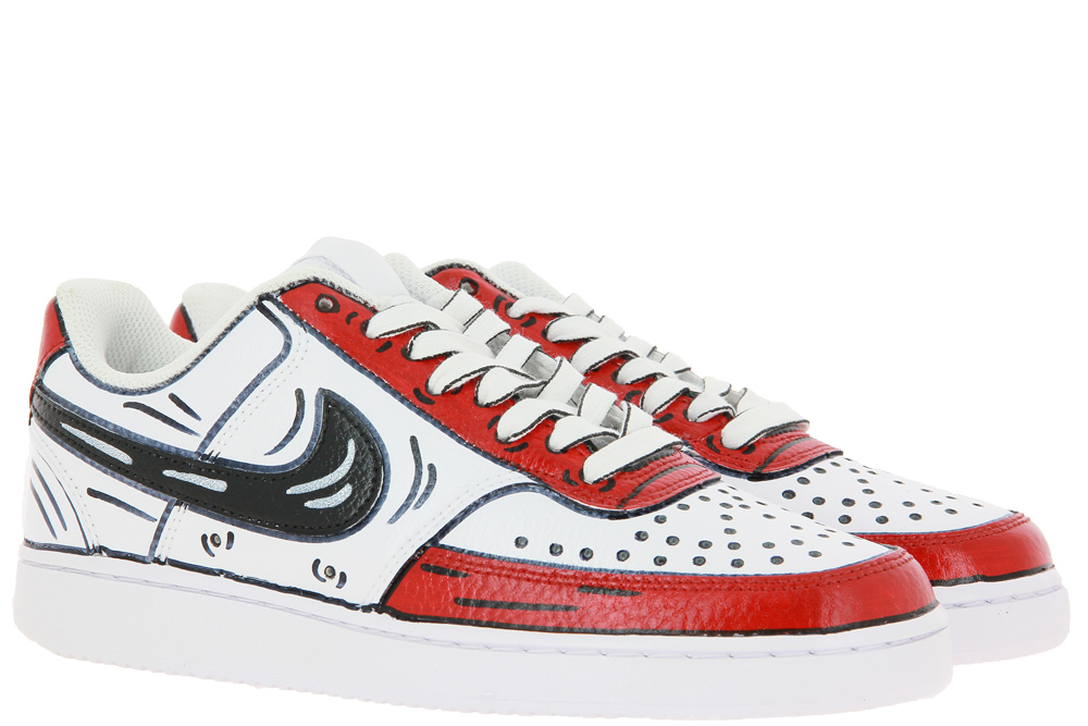 Nike by BallodaSola sneaker COURT VISION LOW RED CARTOONS