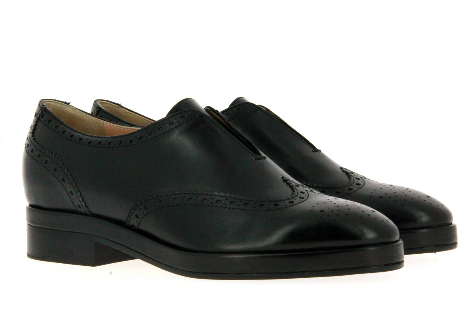 Unützer women's - brogue VITELLO NERO
