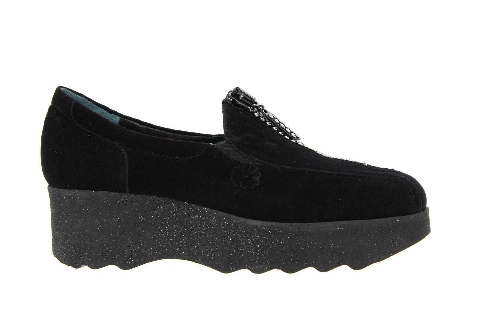 Fernando Pensato Platform Shoe MIRACLE VELVET NERO