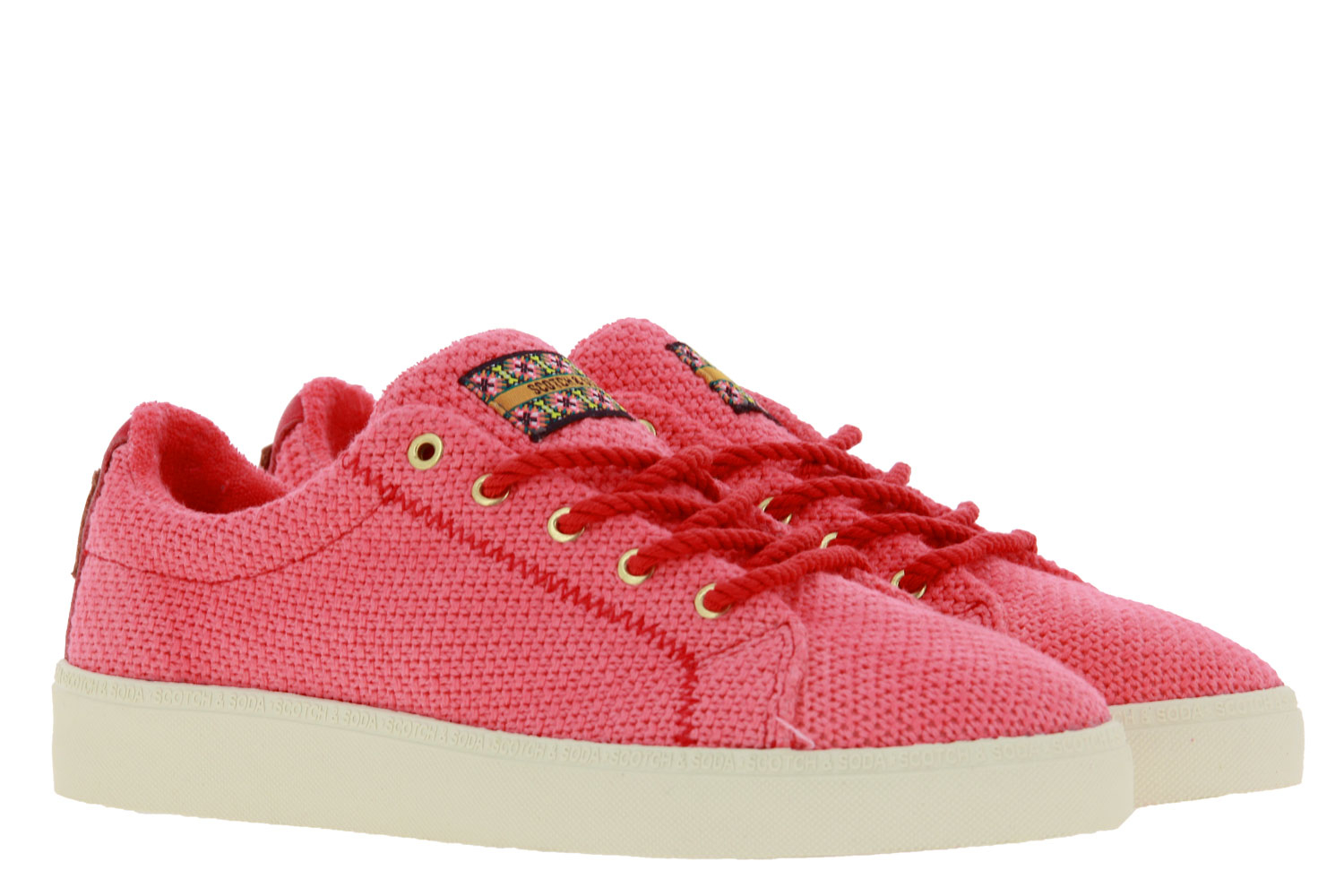 Scotch & Soda sneaker LAURITE KNITTED CANVAS CORAL RED