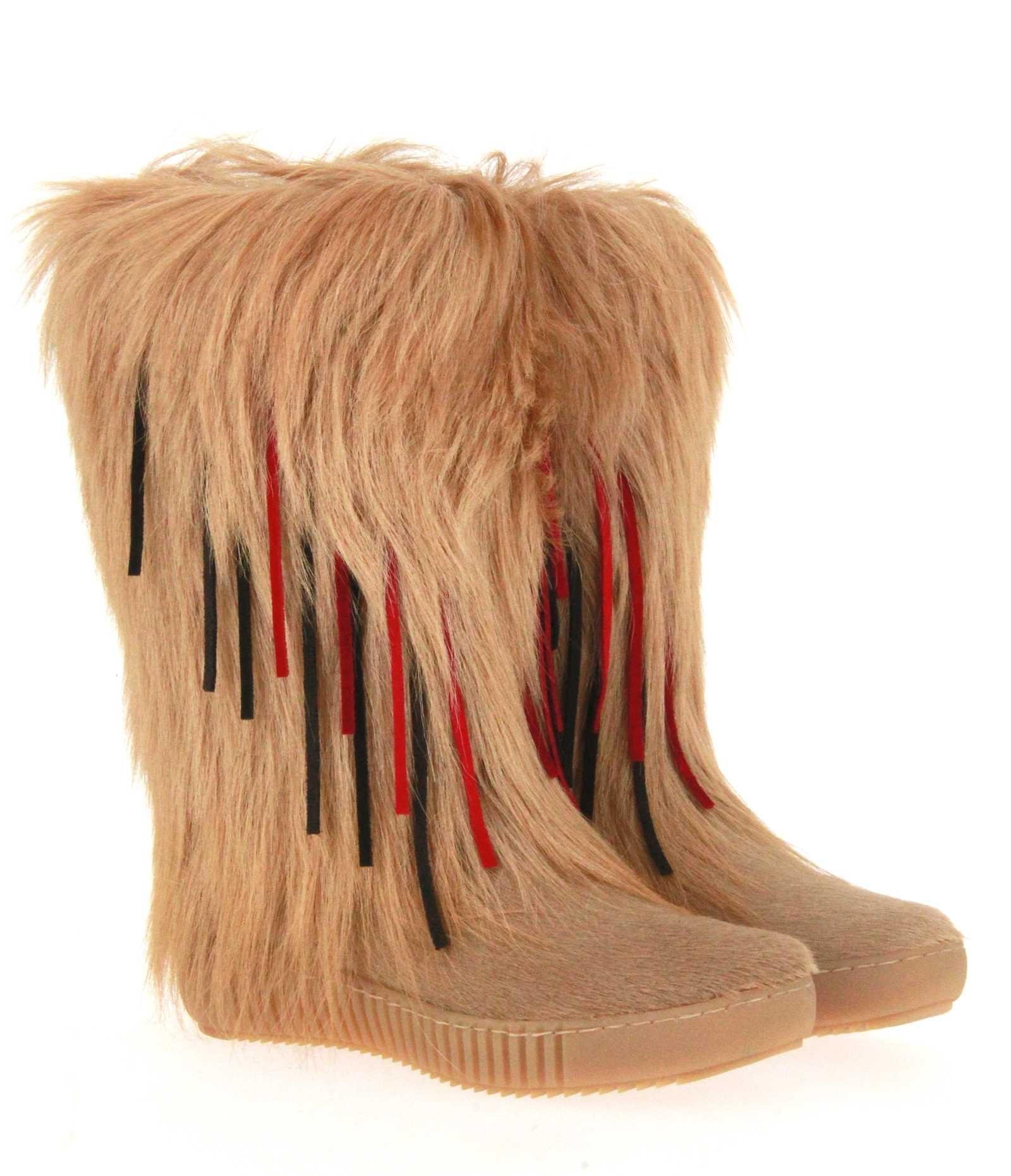 Oscar Sport fur boots ALICE BEIGE
