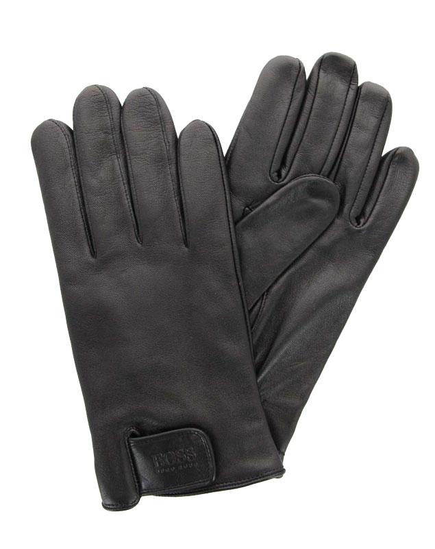 Hugo Boss gloves HELKOP LAMMLEDER SCHWARZ