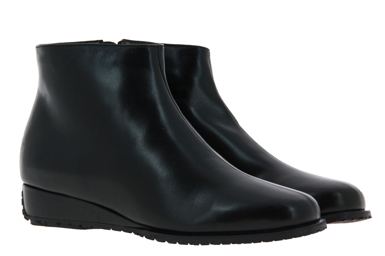 Bagnoli ankle boots lined NAPPA NERO FONDERA PELTRO