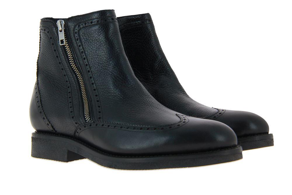 Cordwainer ankle boots lined ORLEANS BLACK DEERSKIN BLACK