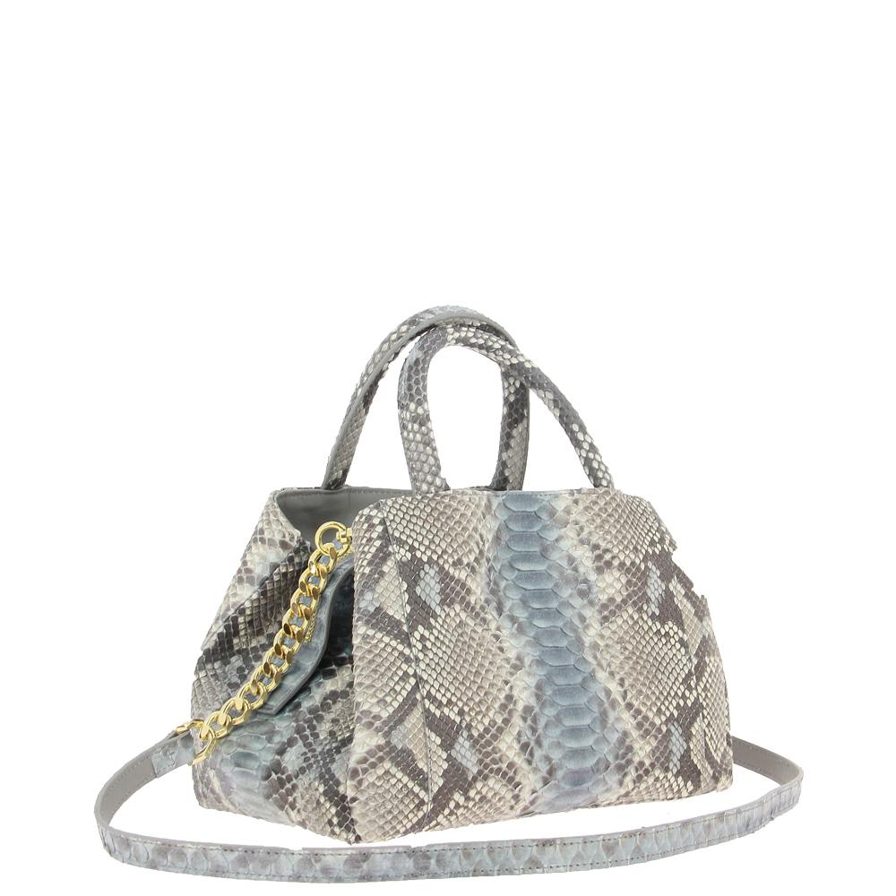 Ghibli shoulder bag PITONE BEIGE BLUE 780