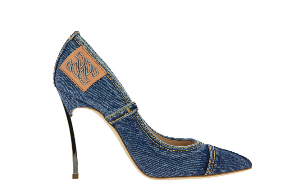 Casadei high heels BLADE DENIM BLUE