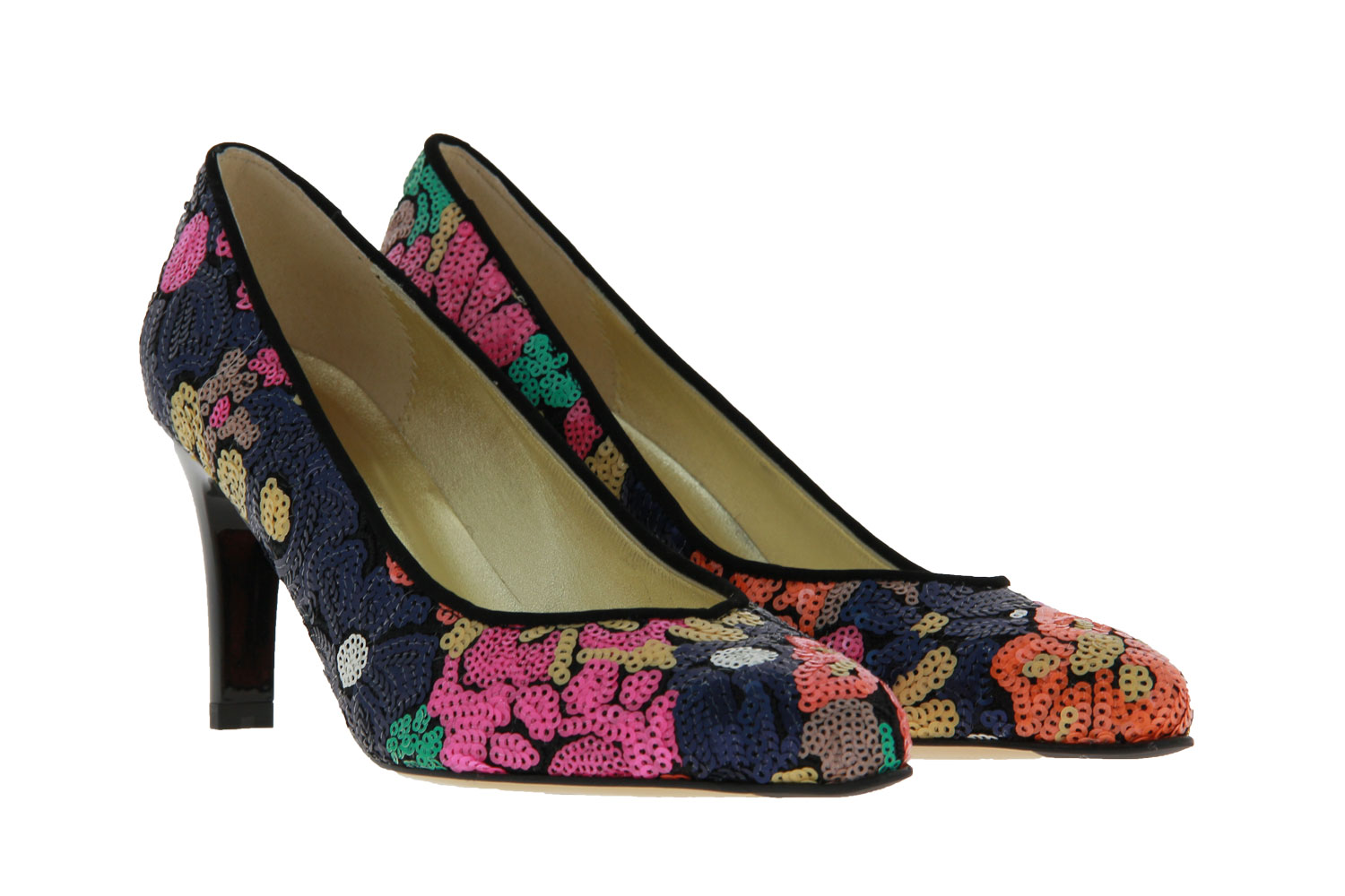 Azuree Cannes pumps OLYA TISSU DIANA VELOURS NERO