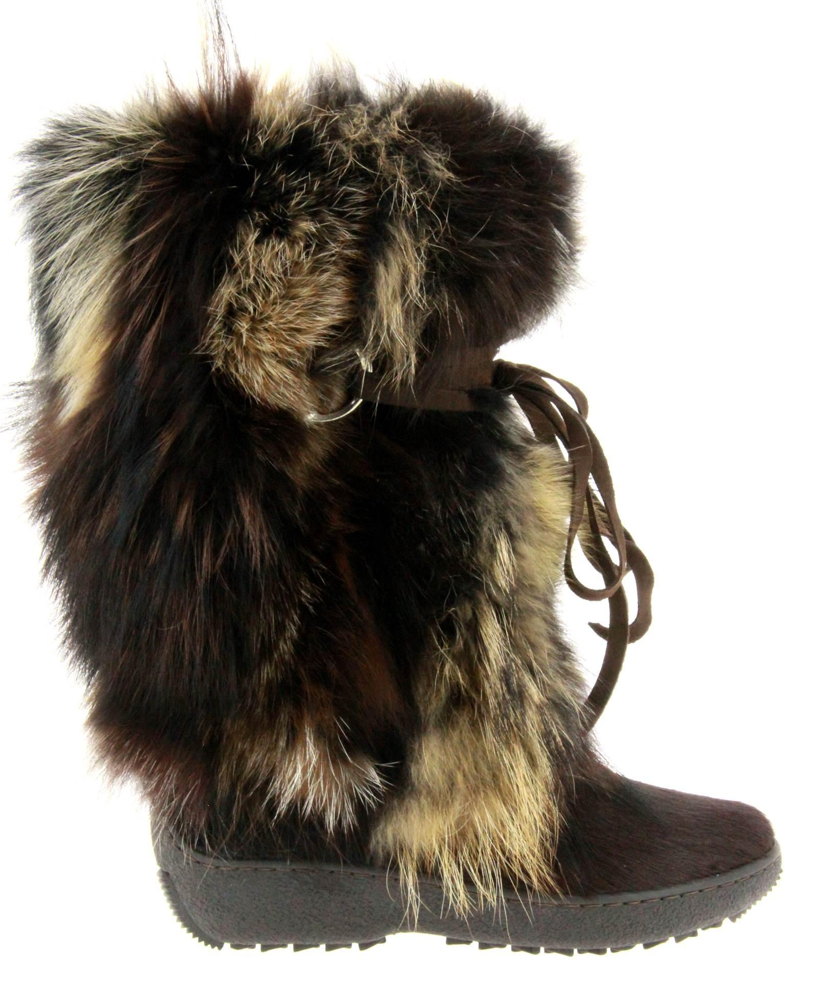 Oscar Sport fur boots VOLPE T.MORO MATILDE
