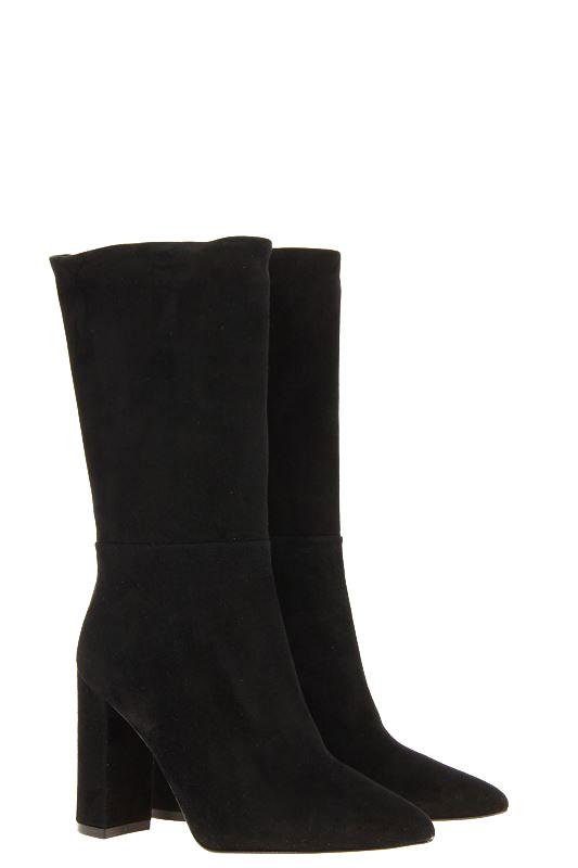 BiancaDi boots CAMOSCIO NERO