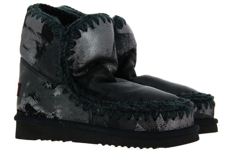 mou boots ESKIMO 18 METAL PRINT ON BLACK