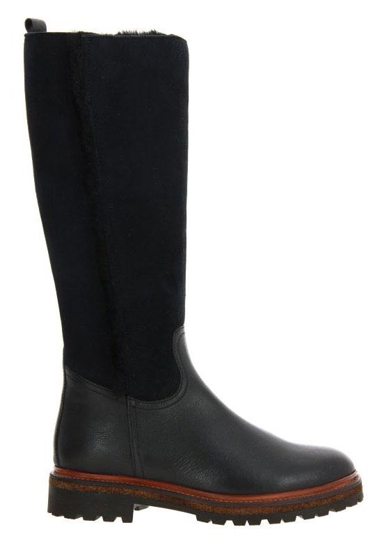 dirndl + bua boots lined RIVER VELOUR SCHWARZ