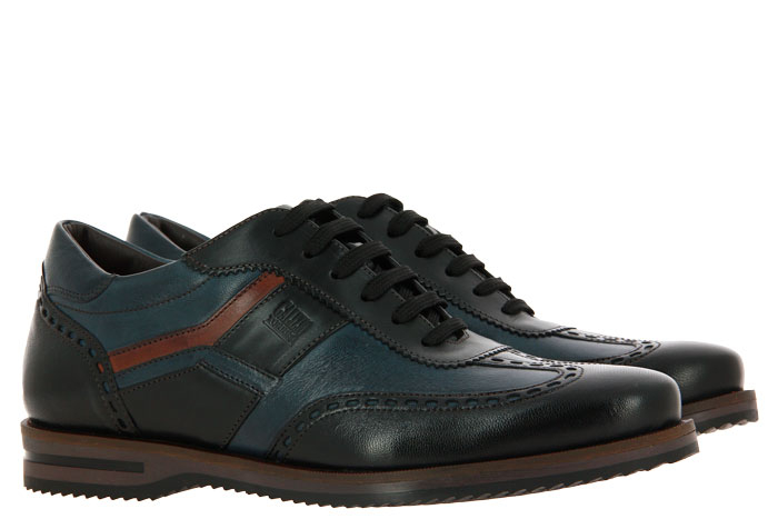 Galizio Torresi sneaker VEGAS NERO BLU INDIO