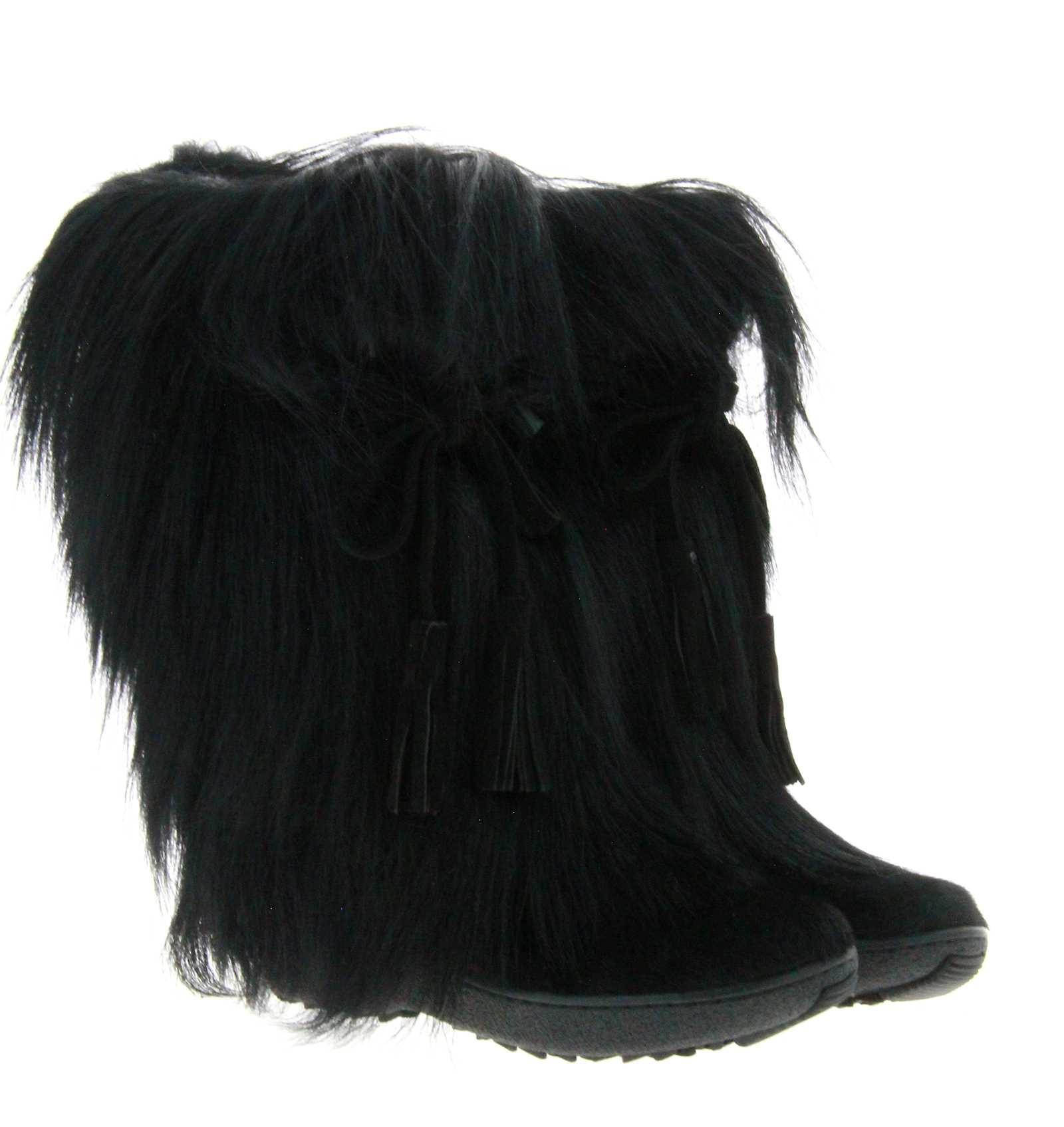Oscar Sport fur boots SCARLET NERO