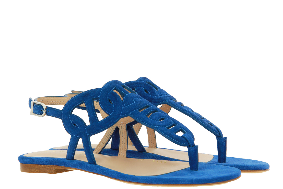 Unützer sandals VELOURS AZURRO