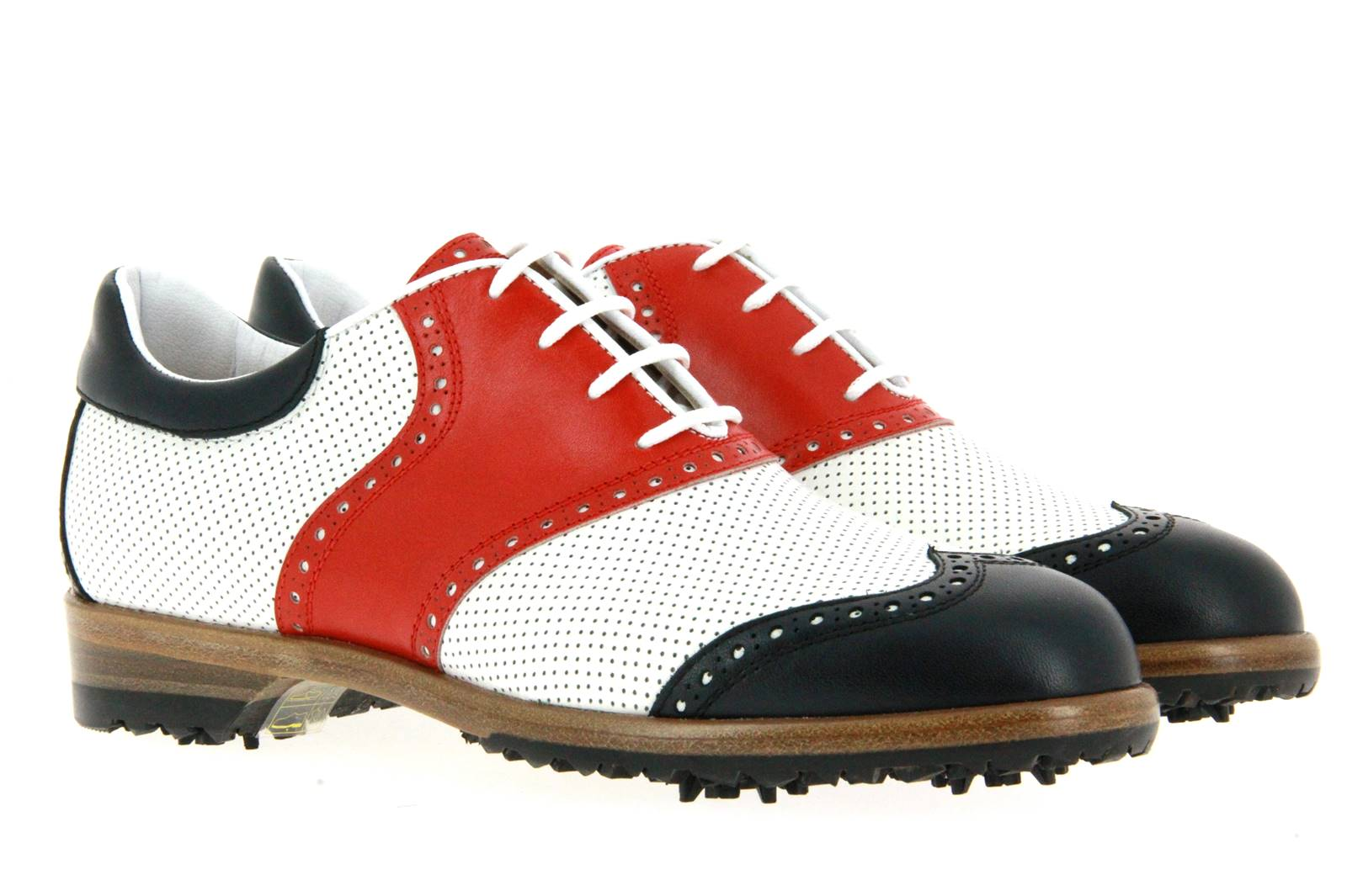 Tee Golf Shoes women's - golf shoe SUSY PERFORATO BLU BIANCO ROSSO
