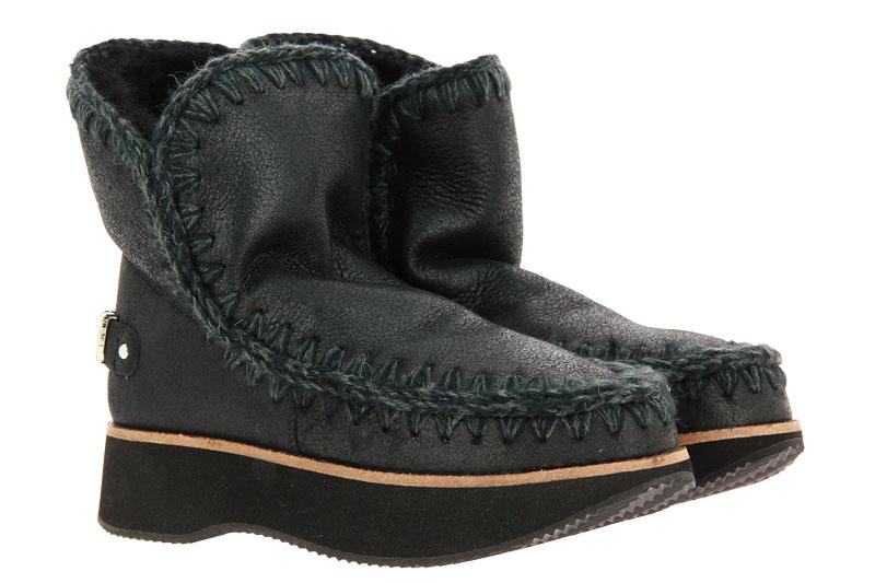 MOU boots RUNNING ESKIMO 18 LOGO CRACKED BLACK GREY
