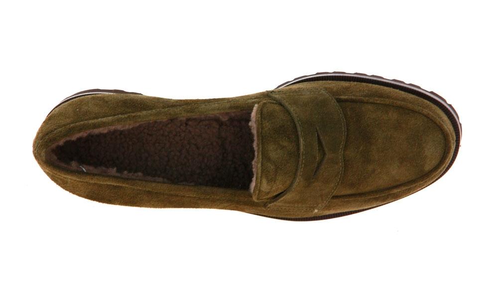 Unützer slipper lined VELOUR KHAKI