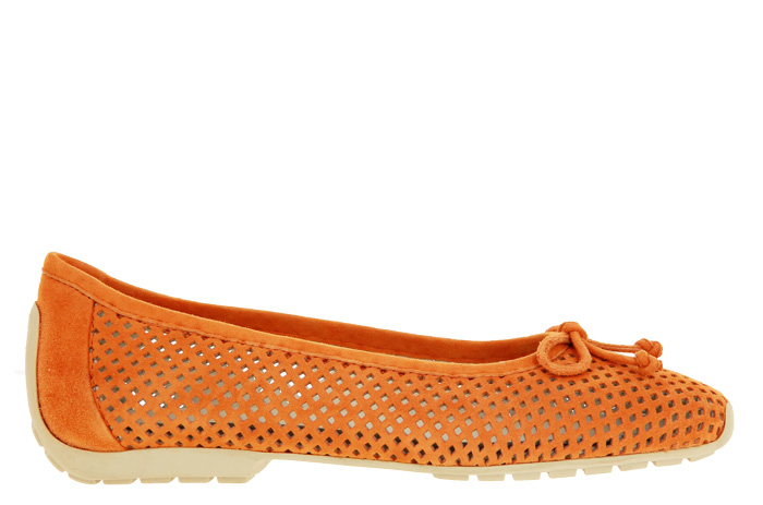 Mania ballerina LILLY PERFORATO CAMOSCIO ORANGE