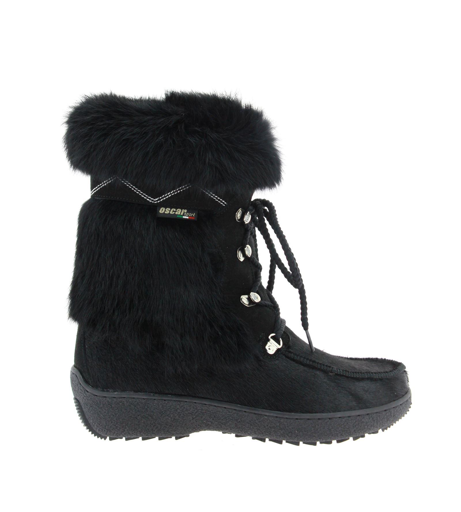 Oscar Sport fur ankle boots BENNY-NERO