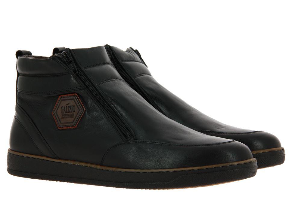 Galizio Torresi ankle boots lined FOULARD NERO