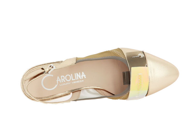 Donna Carolina slingflats DIVINA GOLD SUOLA TOSCA