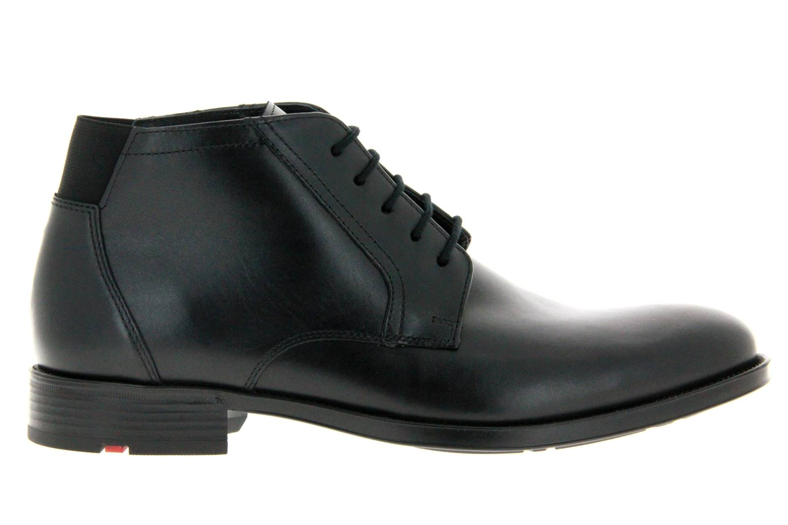 Lloyd lace-up ankle boots lined HALDAN CALF BLACK