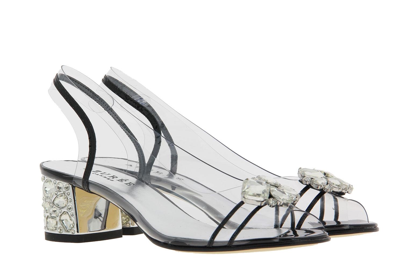 Azuree Cannes sandals NULACO VERNIS NOIR MOTIF CRISTAL