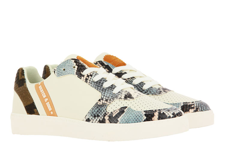 Scotch & Soda sneaker LAURITE LEATHER CREAM SNAKE