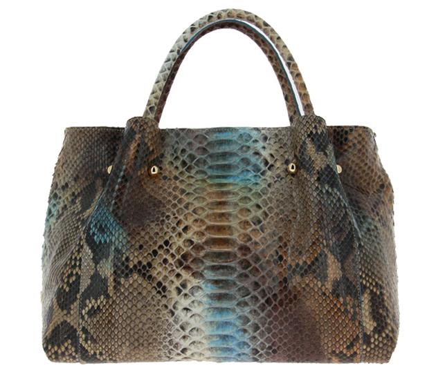 Ghibli handbag PITONE BEIGE BLU