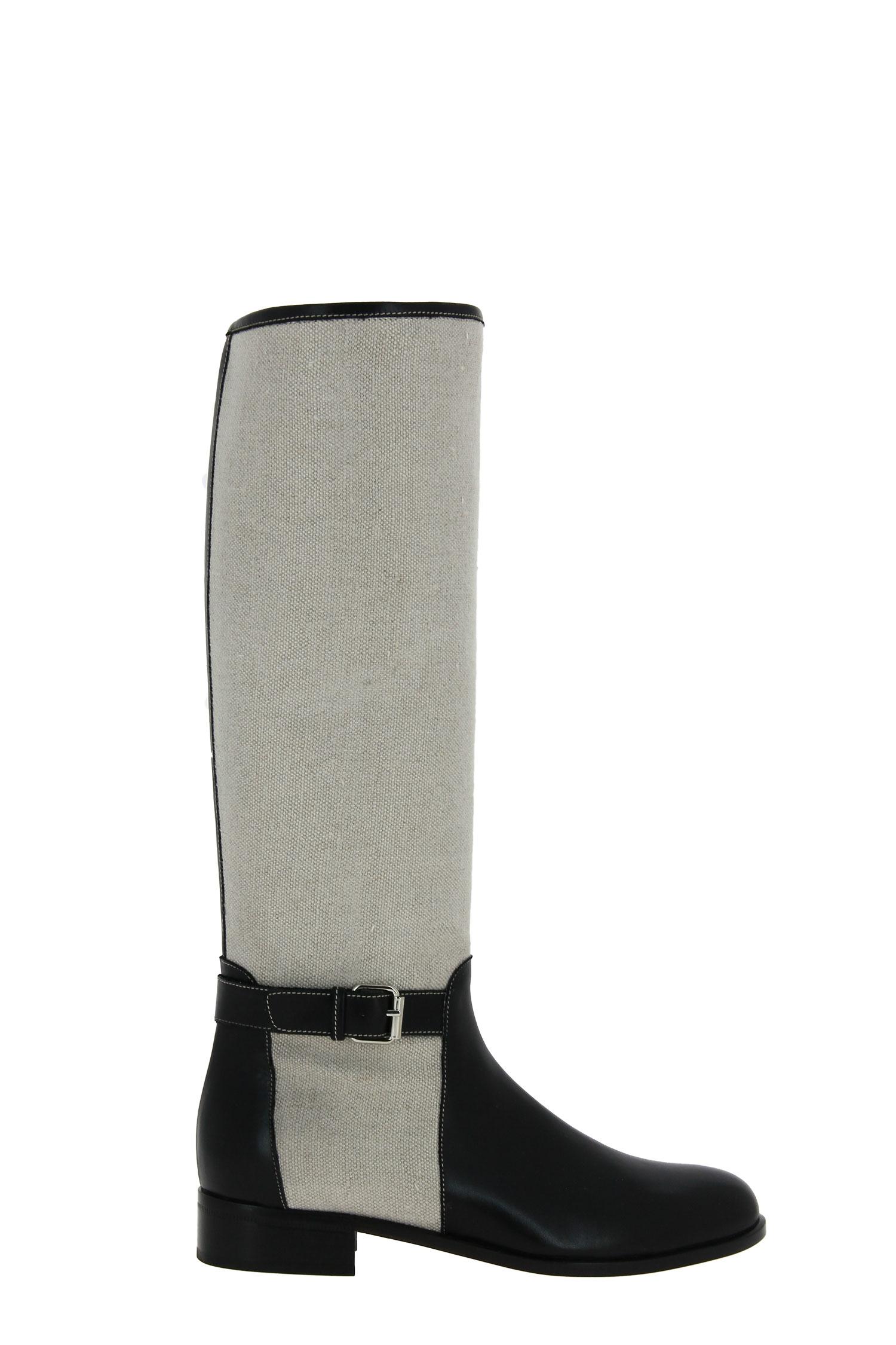 Maretto boots NERO LINO NATURALE