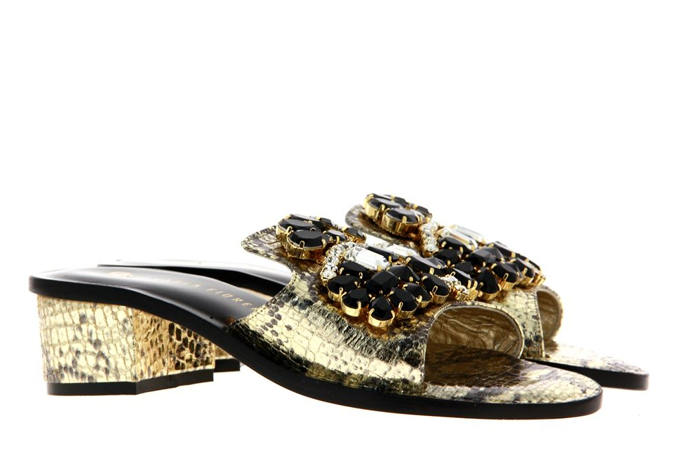 Paola Fiorenza mules SLIDER CRYSTAL PIETRE