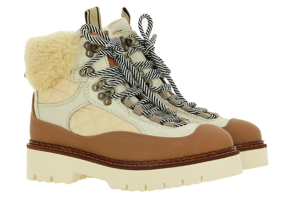 Scotch & Soda ankle boots OLIVINE SUEDE NYLON WHITE