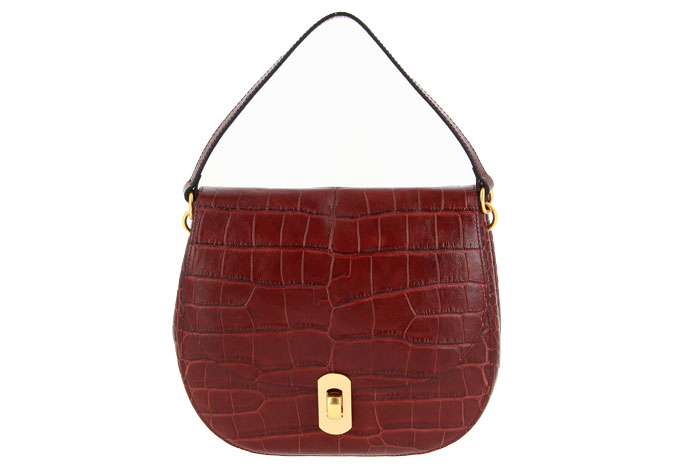 Coccinelle bag ZANIAH CROCO BORDEAUX