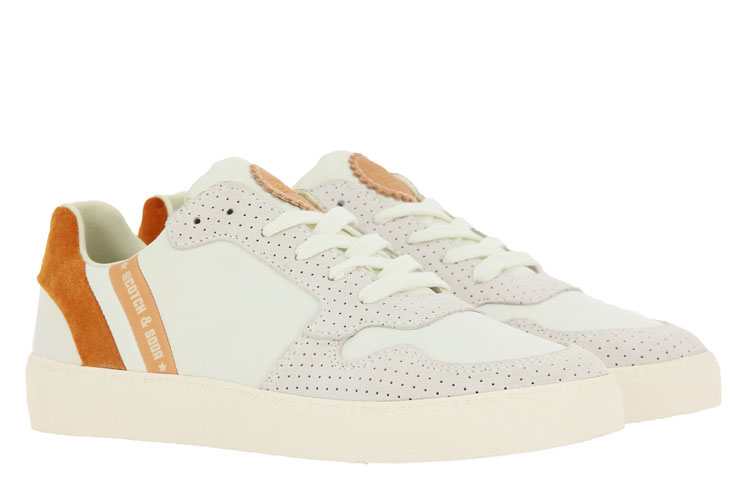 Scotch & Soda sneaker LAURITE SUEDE LEATHER WHITE