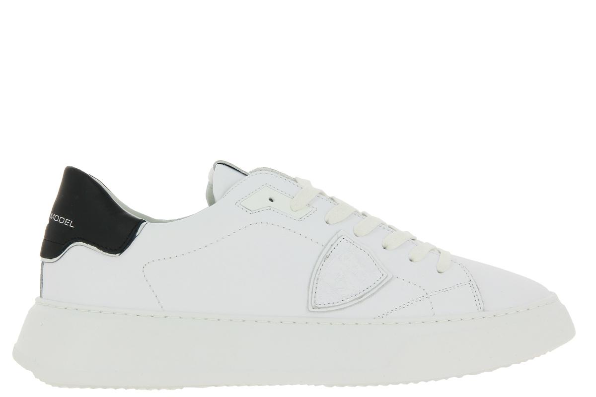 Philippe Model sneaker TEMPLE LOW MAN BLANC NOIR