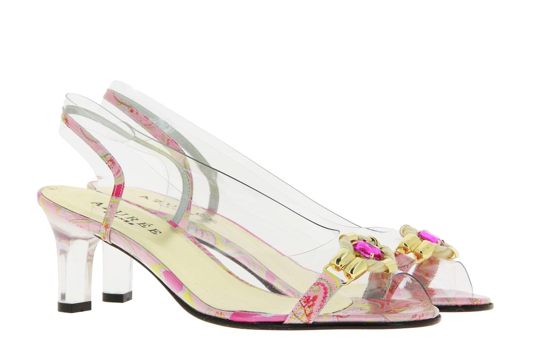 Azuree Cannes sandals NOCHU VERNIS FOULA ROSE