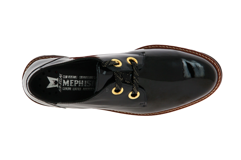 Mephisto lace-up SANCHA BLACK VERNIS