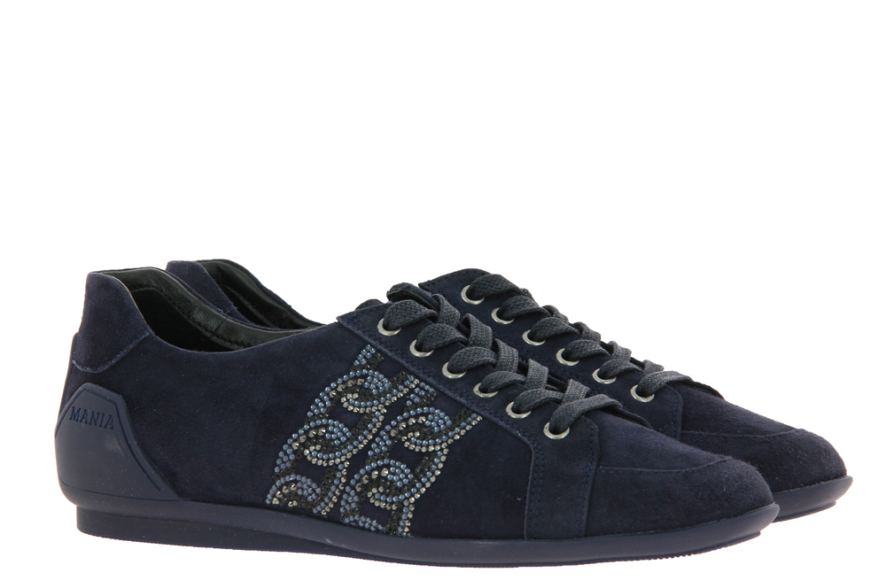 Mania sneaker lined CAMOSCIO BLUE