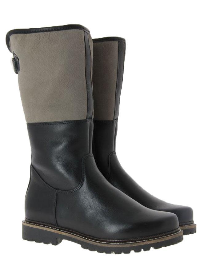 Dirndl + Bua boots lined PANIOLO VELOUR SCHWARZ KHAKI