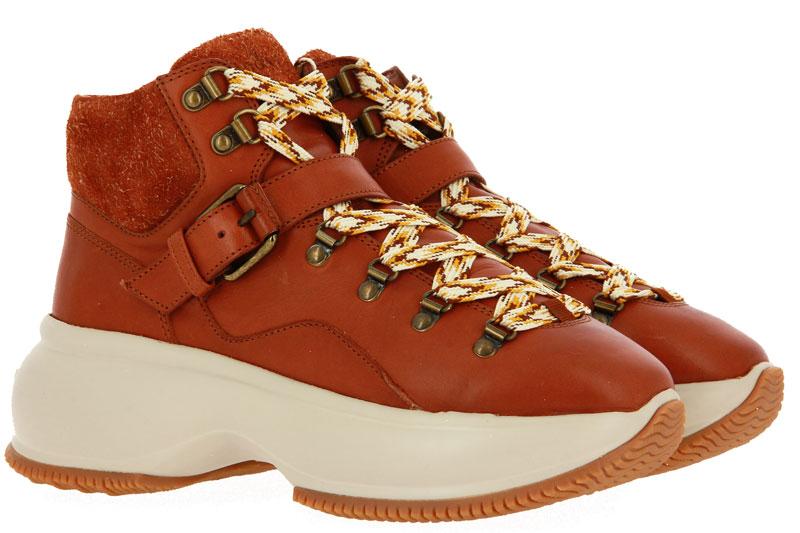 Hogan sneaker MAXI ACTIVE TRONCHETTO CUOIO