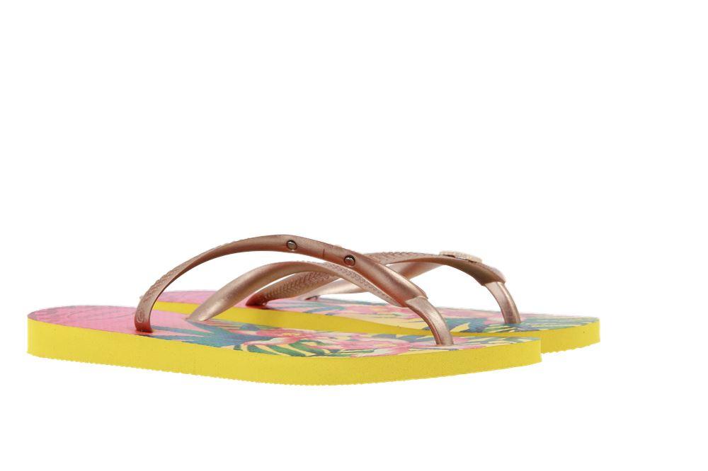 Havaianas toe sandals SLIM TROPICAL LIGHT YELLOW