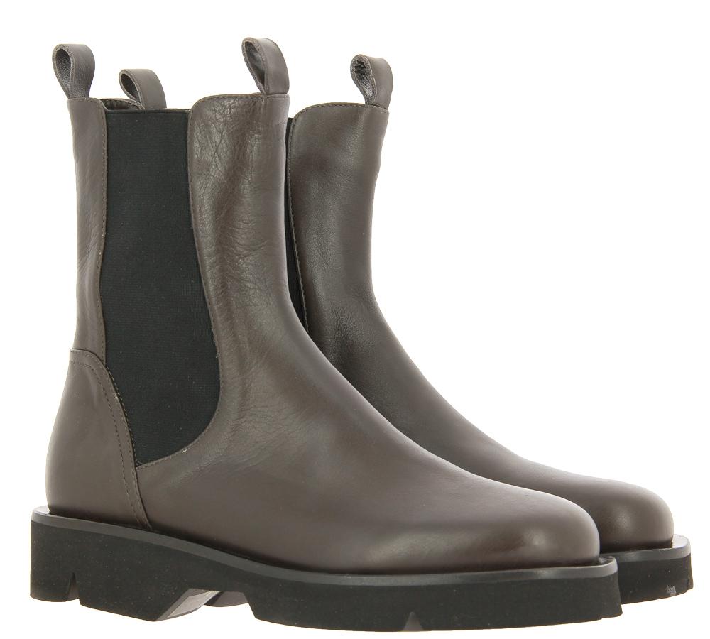 Pomme d'Or ankle boots SETA ELEPHANT GREY GOMMA NERA